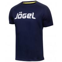 Футболка тренировочная JTT-1041-097, полиэстер, темно-синий/белый