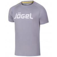 Футболка тренировочная JTT-1041-081, полиэстер, серый/белый