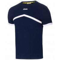 Футболка тренировочная JCT-1040-091, хлопок, темно-синий/белый