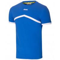 Футболка тренировочная детская JCT-1040-071, хлопок, синий/белый, детская