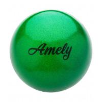 Мяч для художественной гимнастики AGB-103 19 см, зеленый, с насыщенными блестками