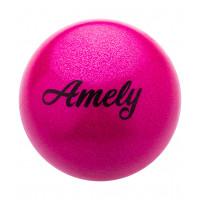 Мяч для художественной гимнастики AGB-103 15 см, розовый, с насыщенными блестками