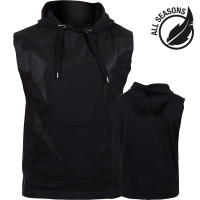 Толстовка Venum Attack Sleeveless Hoody Black