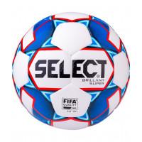 Мяч футбольный Brillant Super FIFA №5, белый/синий/красный