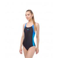 Купальник для плавания совместный Ren One Piece Black/Pix Blue/Turquoise, 000989 508