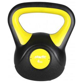 Гиря пластиковая DB-502, 4 кг, желтый