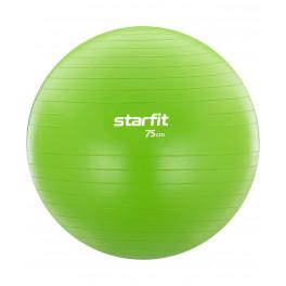 Фитбол GB-104, 75 см, 1200 гр, без насоса, зеленый, антивзрыв