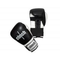 Перчатки боксерские Clinch Punch черно-белые