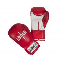 Перчатки боксерские Clinch Fight красно-белые
