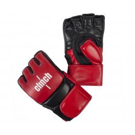 Перчатки для смешанных единоборств Clinch Combat красно-черные