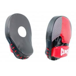 Лапы Clinch Boken Curve Focus Pad черно-красные