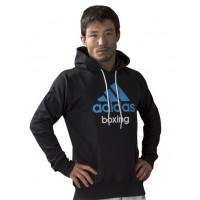 Толстовка с капюшоном (Худи) Community Hoody Boxing черно-синяя adiCHB