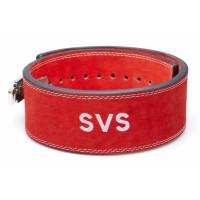 Пояс для тяжелой атлетики с карабином svs red широкий