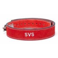 Пояс для тяжелой атлетики с карабином svs red узкий