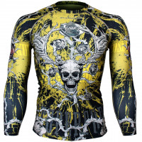 Рашгард btoperform skull roses -yellow fx-139y