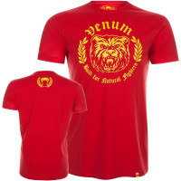 Футболка venum natural fighter - bear red
