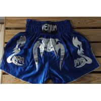 Шорты для тайского бокса venum blue silver