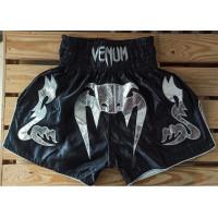 Шорты для тайского бокса venum bangkok inferno black silver