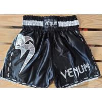 Шорты для тайского бокса venum giant 2 black silver
