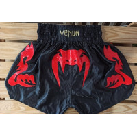 Шорты для тайского бокса venum bangkok inferno black red