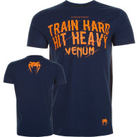 Футболка venum train hard hit heavy blue