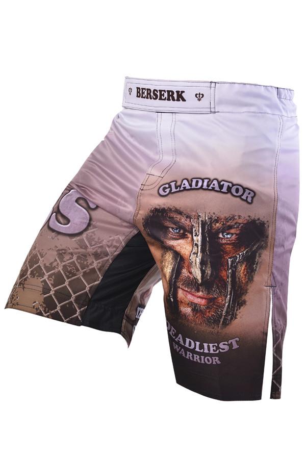 Шорты mma berserk gladiator white
