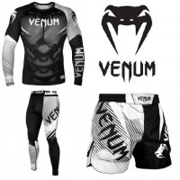 Спортивный комплект Venum nogi 2.0 black white