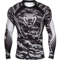 Рашгард venum camo hero compression t-shirt - gray