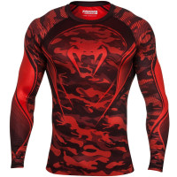 Рашгард venum camo hero compression t-shirt - red