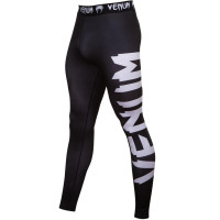 Компрессионные штаны venum giant spats - black