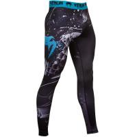 Компрессионные штаны venum koi spats - black