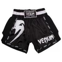 Шорты для тайского бокса venum giant muay thai black white