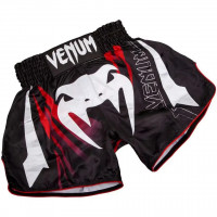 Шорты для тайского бокса venum sharp muay thai black red