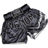 Шорты для тайского бокса venum tecmo muay thai dark grey