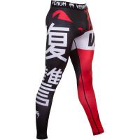Компрессионные штаны venum revenge spats - black/red