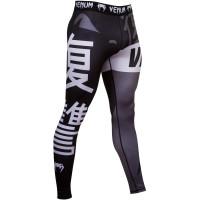 Компрессионные штаны venum revenge spats - black grey