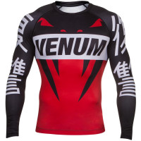 Рашгард venum revenge rashguards - black/red