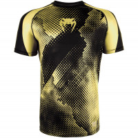 Футболка venum technical dry tech t-shirt - black/yellow