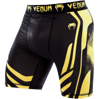 Компрессионные шорты venum technical compression shorts - black/yellow