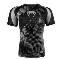 Рашгард короткий рукав VENUM TECHNICAL COMPRESSION T SHIRT-BLACK/GREY