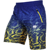 Шорты VENUM TROPICAL FITNESS SHORTS-BLUE/YELLOW