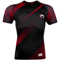 Рашгард короткий рукав VENUM RAPID RASHGUARDS SHORT SLEEVES-BLACK/RED
