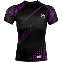 Рашгард короткий рукав venum rapid rashguards short sleeve - black/purple
