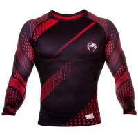 Рашгард venum rapid rashguards long sleeve - black/red