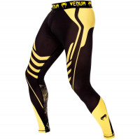 Спортивные штаны venum technical spats - black/yellow