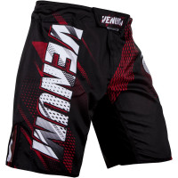 Шорты venum rapid fight shorts - black/red